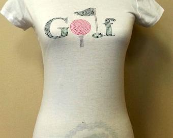 golf Rhinestone Short Sleeve T-Shirt