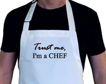 Mens Apron / Personalized Apron / Personalized Gift / Trust me...