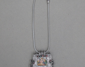 Silver Amulet necklace from Rajasthan - India