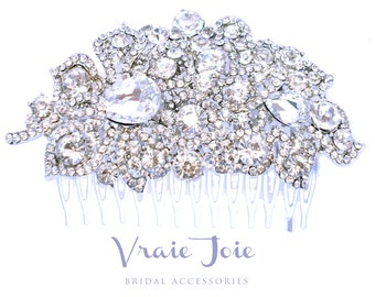 Bridal hair comb, bridal jewellery, wedding accessory, crystal