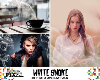 SMOKE PHOTOSHOP OVERLAYS, Smoke Overlays, Photoshop Overlays, Realistic Smoke, Mist Overlays, Steam, Fog