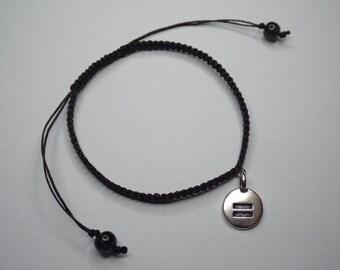 Equality macrame TierraCast charm bracelet // hand-made - bracelet - jewellery - jewelry - macrame - knot - LGBTIQ