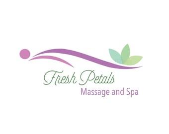 Spa Logo - Massage logo - Massage Spa logo - petals logo - premade spa logo - unique Logo Design