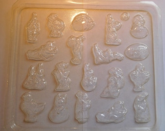 Easter Bite Size Miniatures Set of 19 Designs with No Cracks Vintage Plastic