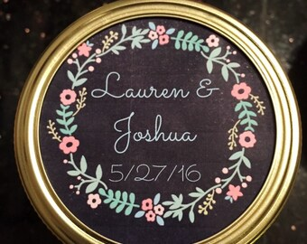 Set of 12 Wedding Favor Candles, 4oz, 8oz, 16 oz, Mason Jar, handmade