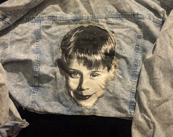 Ultra-Cropped Kevin McCallister (Macaulay Culkin) studded jacket
