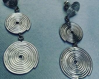 LA VIE  Earrings. Threat of sterling silver. Aretes. Hilo de plata de 1000(Ar003)