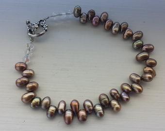 Bronze Freshwater Pearl Bracelet
