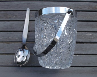 Ice bucket vintage 70s - crystal ice bucket
