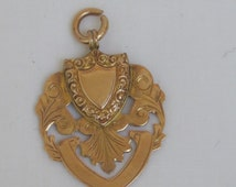 Fabulous Antique 9ct Rose Gold Pendant or Fob - 1907