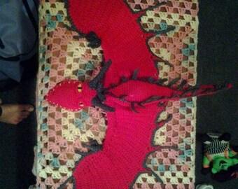 "Crocheted Dragon (Appr 18"")"