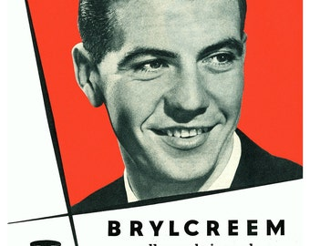 BR02 Vintage Brylcreem Advertising Poster Print