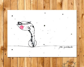 """Tightrope fish"" Print - Limited Edition"