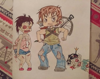The Walking Dead - A4 Drawing