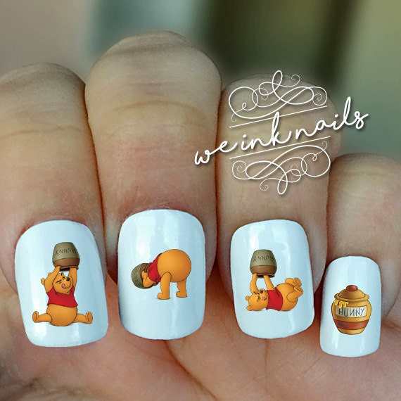 Winnie The Pooh Nails: WINNIE THE POOH-Water Slide Decals-Nail Decals-Nail Art
