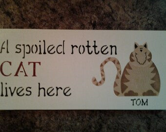 Personalized cat sign for any cat lover