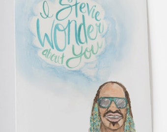 I Stevie Wonder About You Card