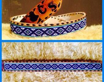Hand beaded belt
