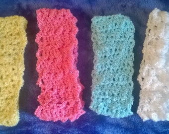Crochet girls headbands