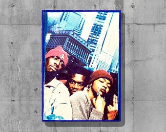 The fugees - lauryn hill - wood wall hanging - old school hip hop - old school rap - ready or not - urban wall art - handmade - music print