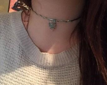 Handmade choker necklace wire wrap