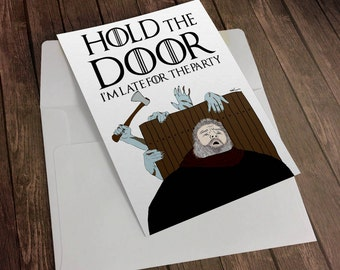 """Shop """"hold the door"""" in Paper & Party Supplies"""