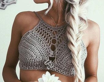 crochet mini goddess bikini top