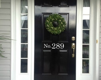 House Number Decal