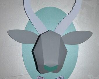 trophy gazelle customizable paper DIY