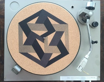 Turntable Slipmat - Specially designed Cork. Infinite geometric knot.