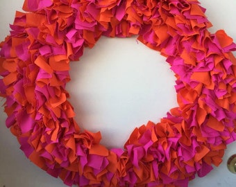 Large Fabric Wreath for All Seasons