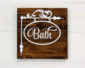 Bathroom Sign | Rustic Bathroom Sign | Bathroom Decor | Wash Your Hands | Rustic Decor | Farmhouse | Housewarming