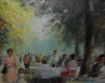 F Moritz oil painting