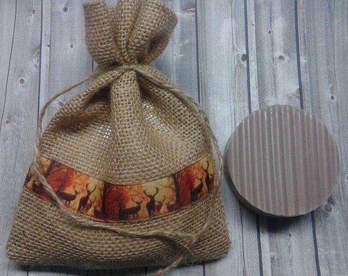 Hunters Soap, Scent Cover, Dirt Scent , Glycerin Soap, Hunters Soap, Burlap Gift Bag, Men's Soap