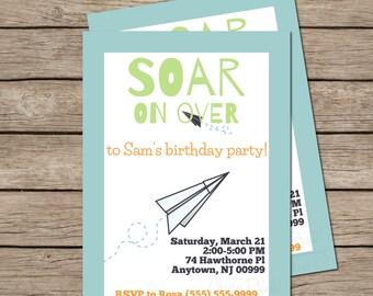 Soar on Over Birthday Invite