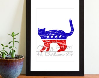 Patriot Cat Print