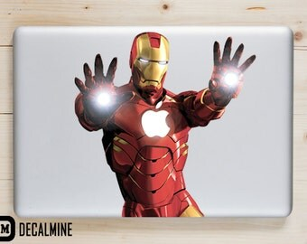 IRON MAN MacBook Decal Vinyl Sticker Removable Vinyl Decal MacBook Pro Sticker MacBook Air Decal MacBook Decals
