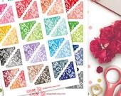 Day Off Corner Watercolor Planner Stickers | Erin Condren | Kikki K | Filofax | Life Planners | Happy Planner
