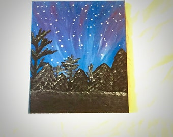 "Starry Winter Night 11""x14"""