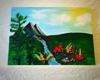 """Mountain Spring 24""""x18"""""""