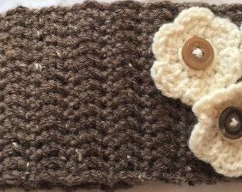 Floral Crochet Headwrap