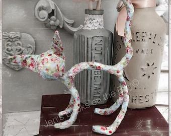 Paper mache - cat figurine