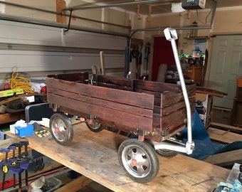 Vintage refurbished  wooden wagon