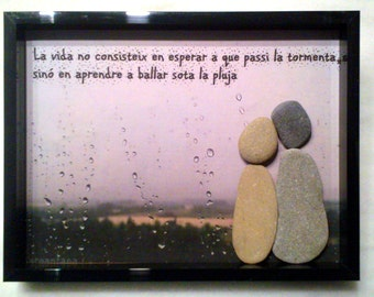 PICTURES with stones personalized with own photography and quotes