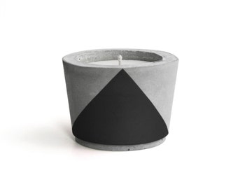 Black painted Concrete - Scented Soy Wax Candle *choose your fragrance