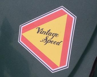 Volkswagen Vintage Speed window decal bumper sticker.  4 X 6 inches.
