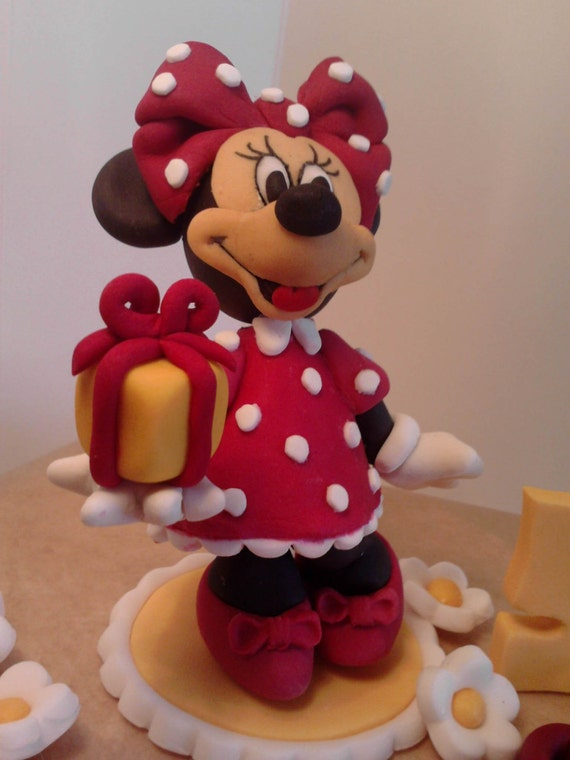 Handmade 3d minnie mouse personalised cake topper birthday for 3d printer cake decoration