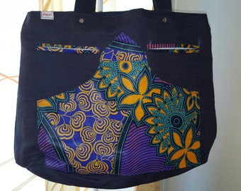 Jean and African fabric bag