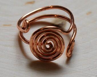 Zen Spiral Ring