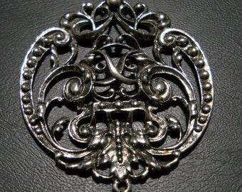 Enchanting Vintage Avon Pendant in Silver and White.